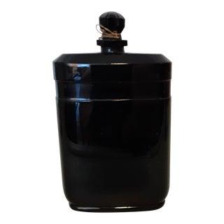 1930s Black Glass Perfume Bottle Nuit De Noel by Caron For Sale