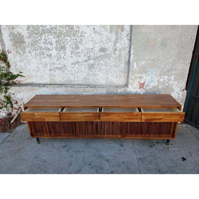 Mid Century Modern Style Eclectic Credenza For Sale - Image 4 of 7