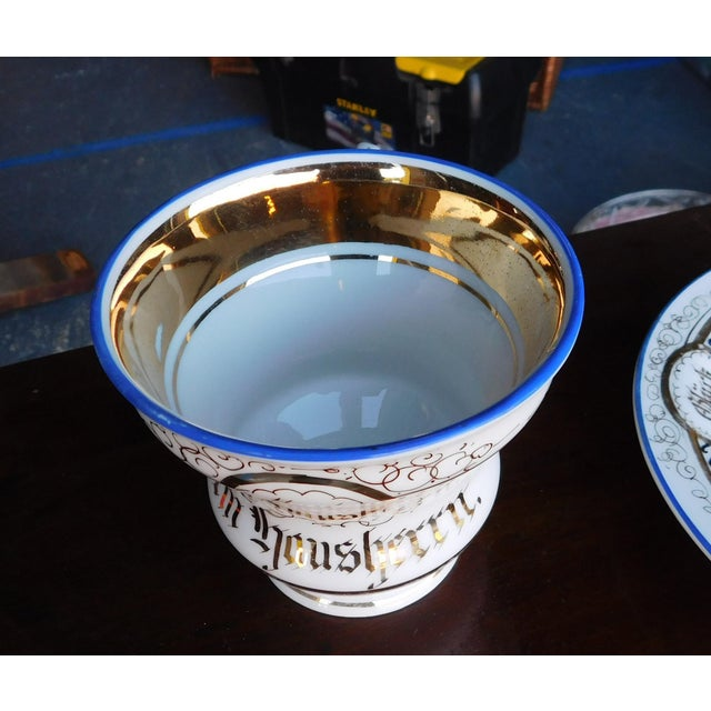 Antique German Victorian Porcelain Dem Hausherrn Decorated Cup & Saucer C1900 For Sale In New York - Image 6 of 9