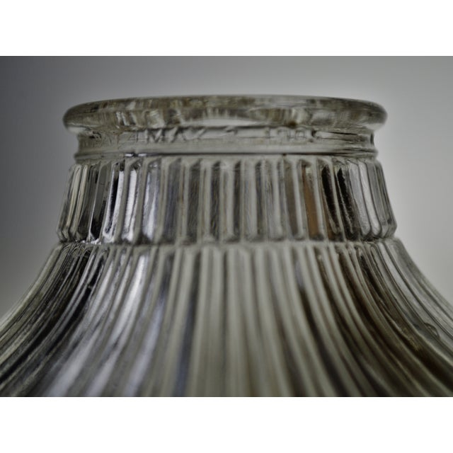 Art Nouveau 1905 Franklin Ribbed Glass Light Shades - a Pair For Sale - Image 11 of 12