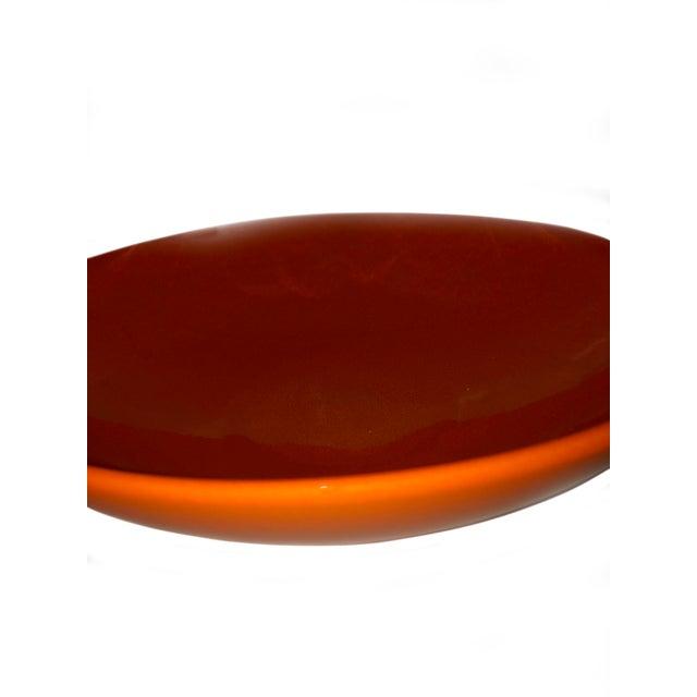 Traditional Vintage West German Pottery Orange Bowl For Sale - Image 3 of 5