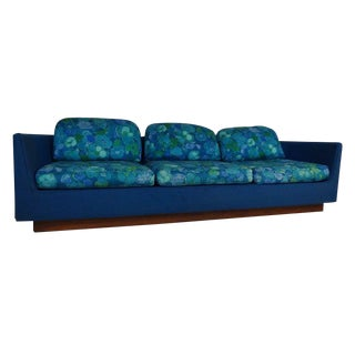 Mid-Century Three Seat Sofa by Selig For Sale