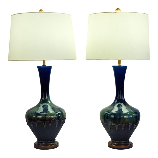 Pair of Porcelain Table Lamps For Sale