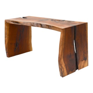 1980s Live Edge Waterfall Console Table For Sale