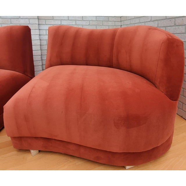 Mid Century Modern Vladimir Kagan for Directional Three Piece Curved Black Sectional Sofa For Sale - Image 10 of 12