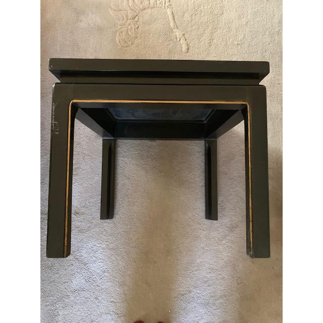 20th Century Asian Hand Painted Square Accent Table For Sale - Image 11 of 13