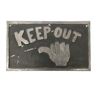 Vintage Keep Out Sign