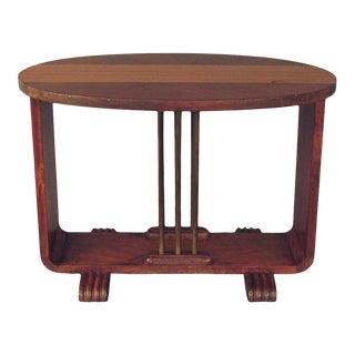 1930s Art Deco U-Base Coffee Table For Sale