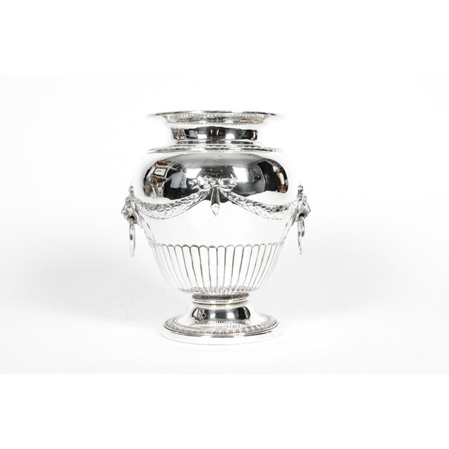 Old Sheffield Silver Plate Decorative Vase For Sale - Image 9 of 9