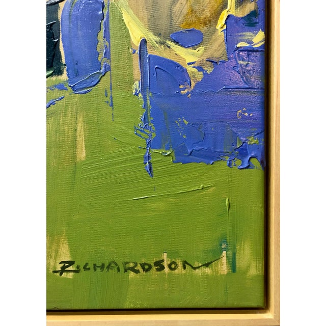 Abstract 1960s Vintage Liang Richardson Oil on Canvas Painting For Sale - Image 3 of 4