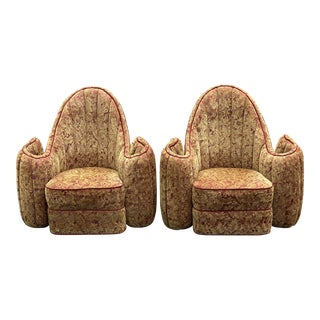 Vintage Devore Roll Arm Lounge Chairs - a Pair For Sale