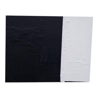 Black and White Abstract Painting by Kelly Caldwell For Sale