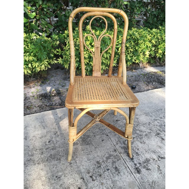 Mid 20th Century Vintage Cane Bent Rattan Chair For Sale - Image 5 of 5