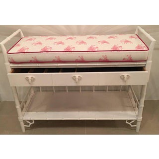 Vintage Lilly Pulitzer Girls Faux Bamboo Lacquered Baby Changing Table Preview