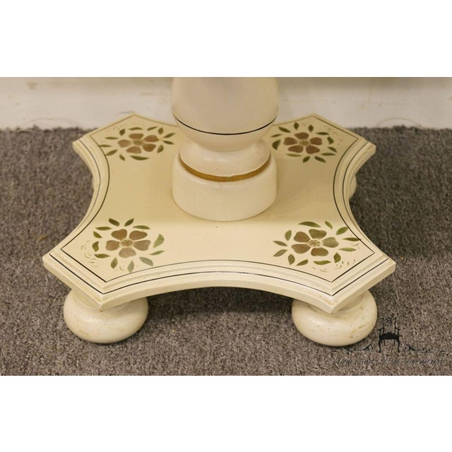 """Ethan Allen Hitchcock Style White Stenciled 20"""" End / Accent Table For Sale - Image 10 of 13"""