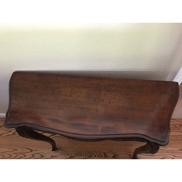 French Country Wooden Entry Table - Image 4 of 5