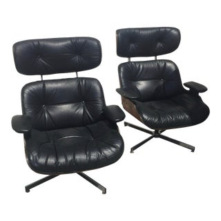 Mid-Century Modern Eames Style Lounge Chairs - a Pair For Sale