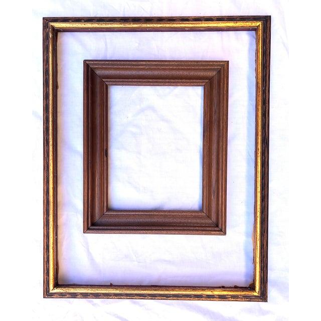 1940s Vintage Boho Chic Wood Frames - Set of 8 For Sale - Image 5 of 13