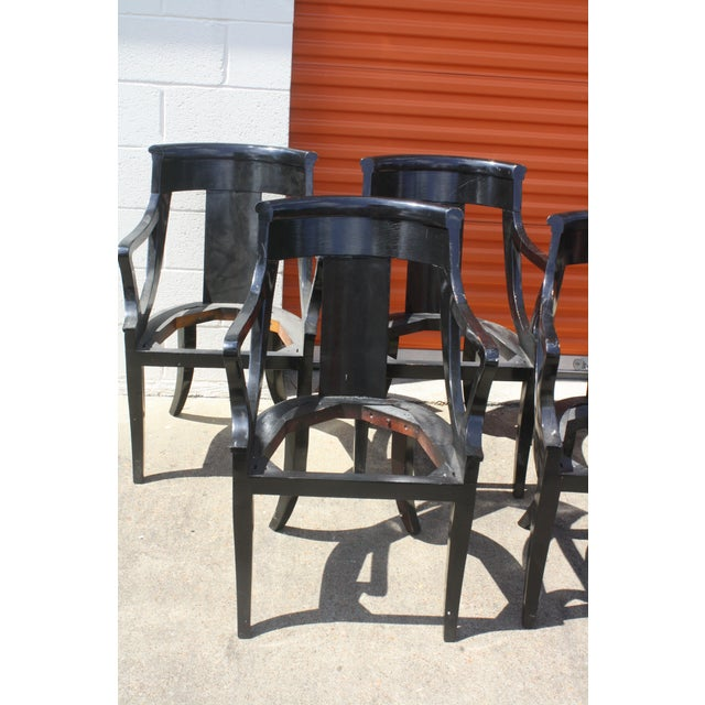 Baker Dining Armchairs - Set of 6 - Image 3 of 5