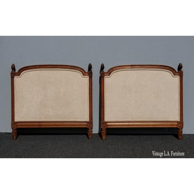 Pair of Vintage French Country Tan Twin Headboards Low Profile For Sale - Image 13 of 13