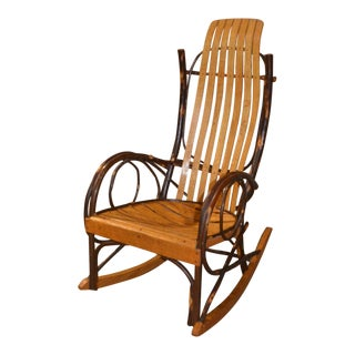 Bentwood Style Hickory & Oak Rocking Chair For Sale