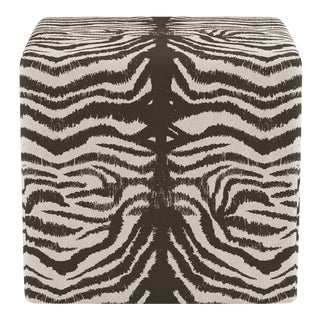 Cube Ottoman in Zebra For Sale