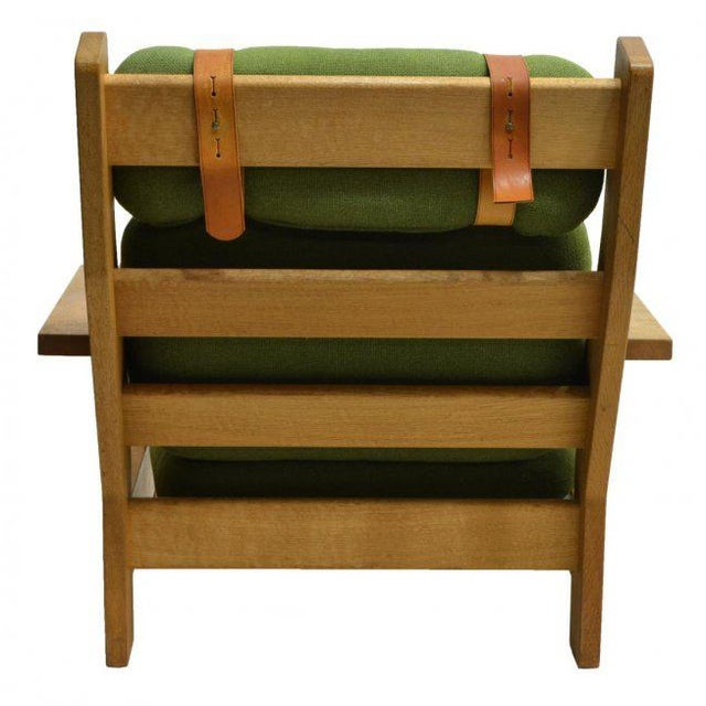 Danish Modern Beechwood Living Room 4-piece Set with Leather Straps, Circa 1970 - Image 8 of 8