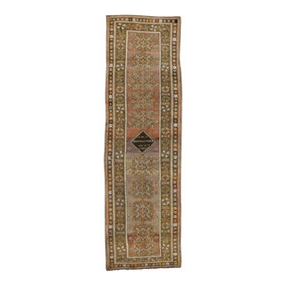 Vintage Turkish Oushak Runner with Modern Traditional Style, Hallway Runner For Sale