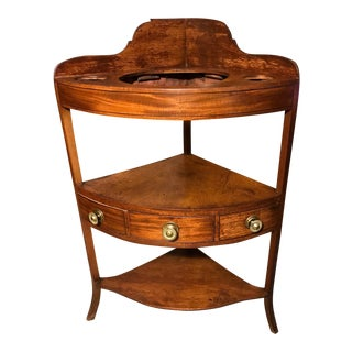 19th Century Antique George III Mahogany Washstand For Sale