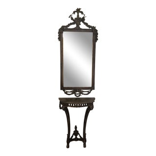 Antique French Mirror & Half Table