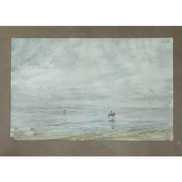 Traditional Early 20th Century Edwardian Style Fishermen Scene Oil Painting by Julius Seyler, Framed For Sale - Image 3 of 8