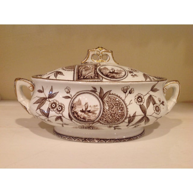 English Aesthetic Movement Oval Casserole With Stand For Sale In New York - Image 6 of 8