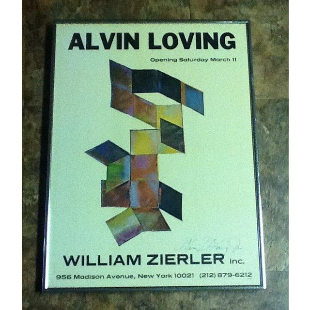 Framed, signed poster by Alvin Loving (1935-2005). Below is an excerpt from an online source. Detroit-born Loving earned...