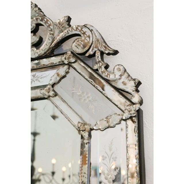 Italian Octagonal Venetian Mirror For Sale - Image 3 of 12