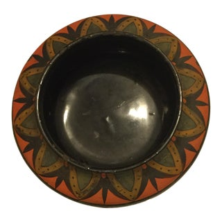 Vintage Lacquer Over Wood Bowl For Sale