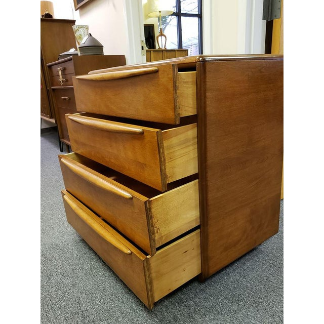 Mid-Century Modern 1960s Mid-Century Modern Heywood Wakefield Encore Small Birch Chest of Drawers For Sale - Image 3 of 13