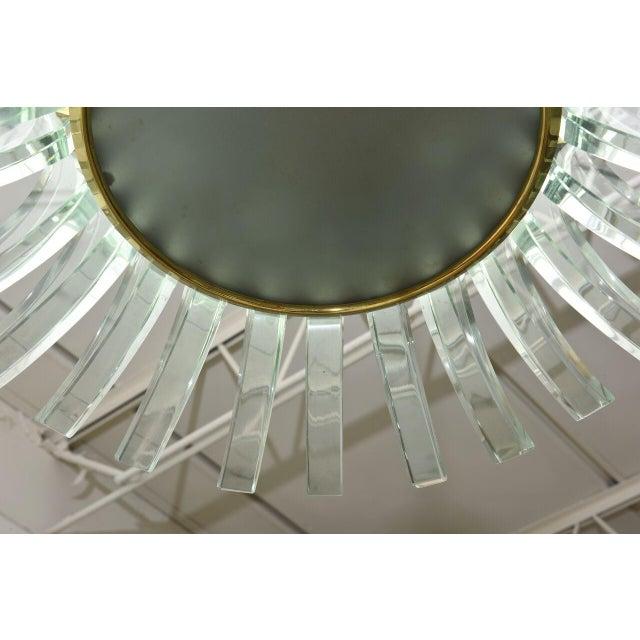 Fontana Arte Rare Fontana Arte Glass Chandelier, Italy, 1950s For Sale - Image 4 of 9