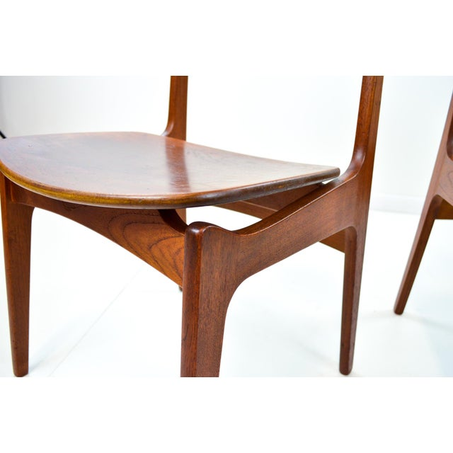 Erik Buck Vintage Danish Modern Teak Dining Chairs - Pair - Image 9 of 9