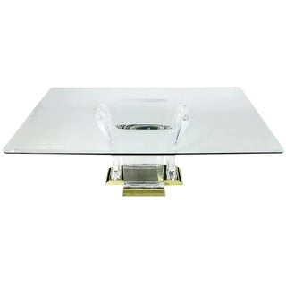 Spectrum Limited Lucite and Brass Dining Table For Sale