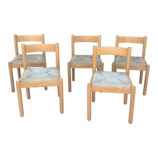 Vico Magistretti for Cassini Beechwood Chairs - Set of 5 For Sale
