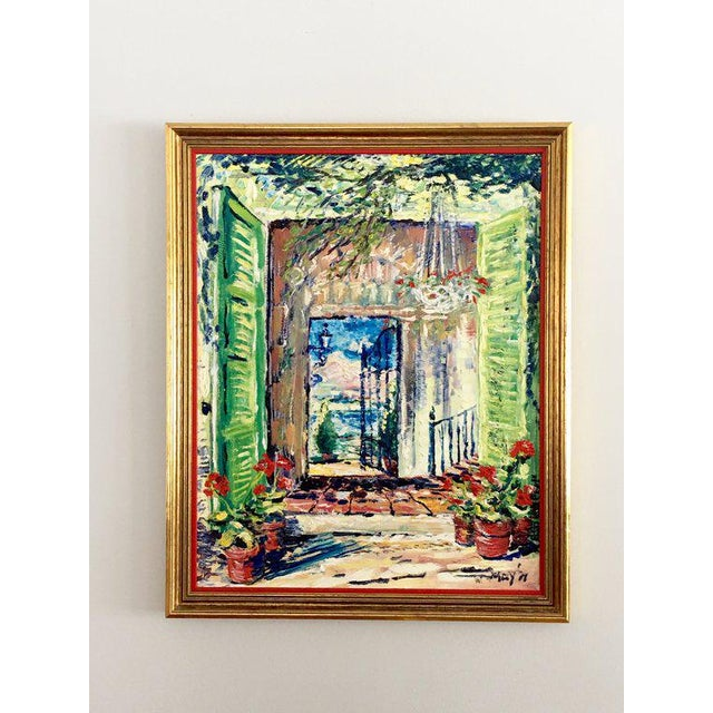 Original Spanish Courtyard Oil Painting! This original signed vintage oil painting is simply fabulous! Painting transports...