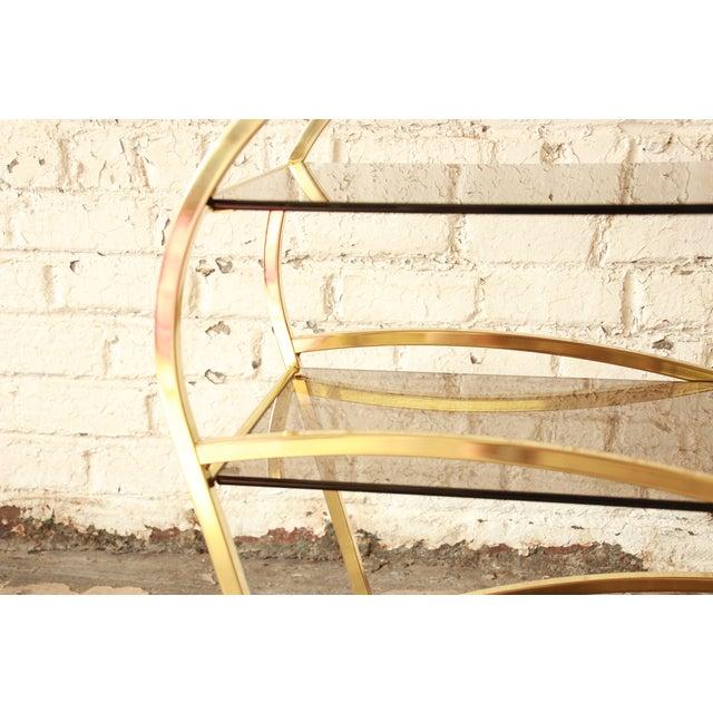 Milo Baughman for DIA Brass and Glass Bar Cart - Image 11 of 11