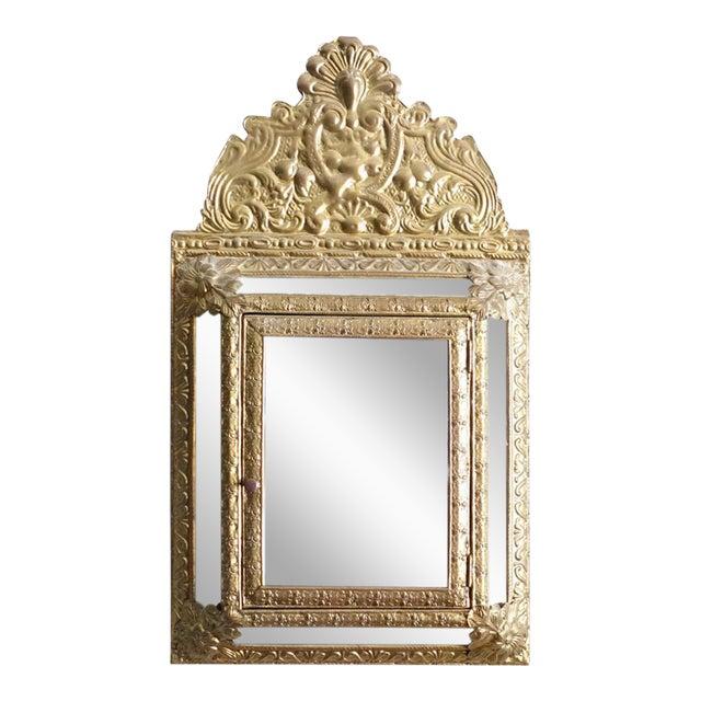 Vintage Brass Cabinet Mirror - Image 1 of 7