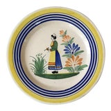 Image of French Faience Plate Henriot Quimper Circa 1930 For Sale