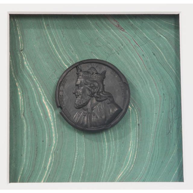 Silver Pair of Hatcher, New Orleans, Framed Intaglios For Sale - Image 8 of 9