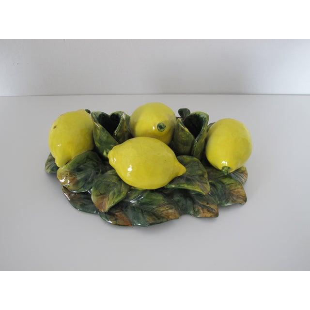Majolica Lemon Candle Centerpiece - Image 4 of 7