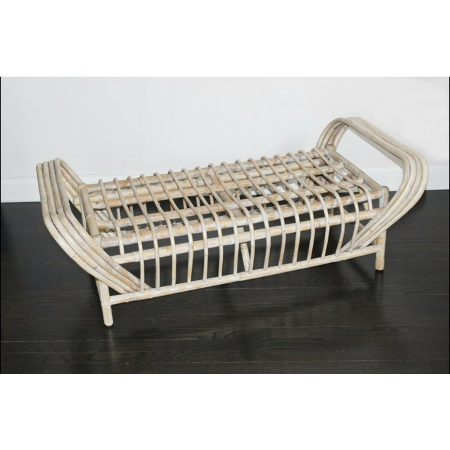 Tan Vintage Mid Century Bamboo Bentwood Sculptural Bench For Sale - Image 8 of 8