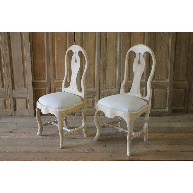 Late 18th Century Swedish Dining Room Chairs - a Pair For Sale - Image 4 of 6