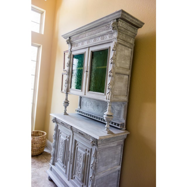 Renaissance Revival Painted Carved Sideboard - Image 8 of 11
