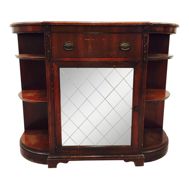 Vintage Mahogany Mirrored Console Chest - Image 1 of 11